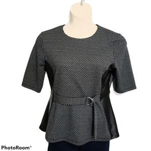Suzy Shier Blouse With Front Belt *
